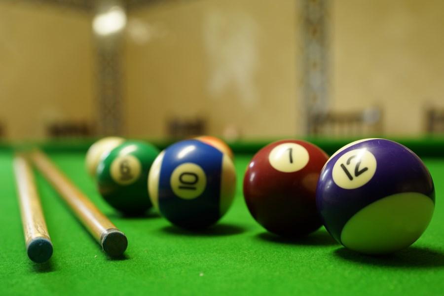 Snooker Table At Chateau D'Hallines, Pas-de-Calais, France