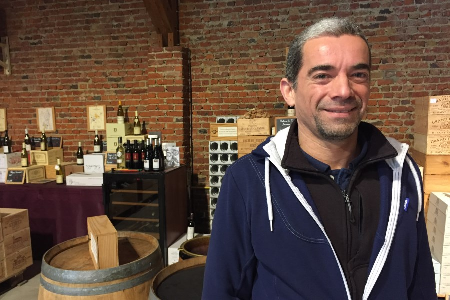 Pascal, manager of Le Chais wine shop, Longuenesse