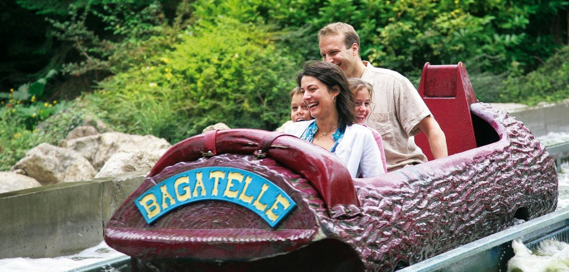 Log flume at Bagatelle theme park