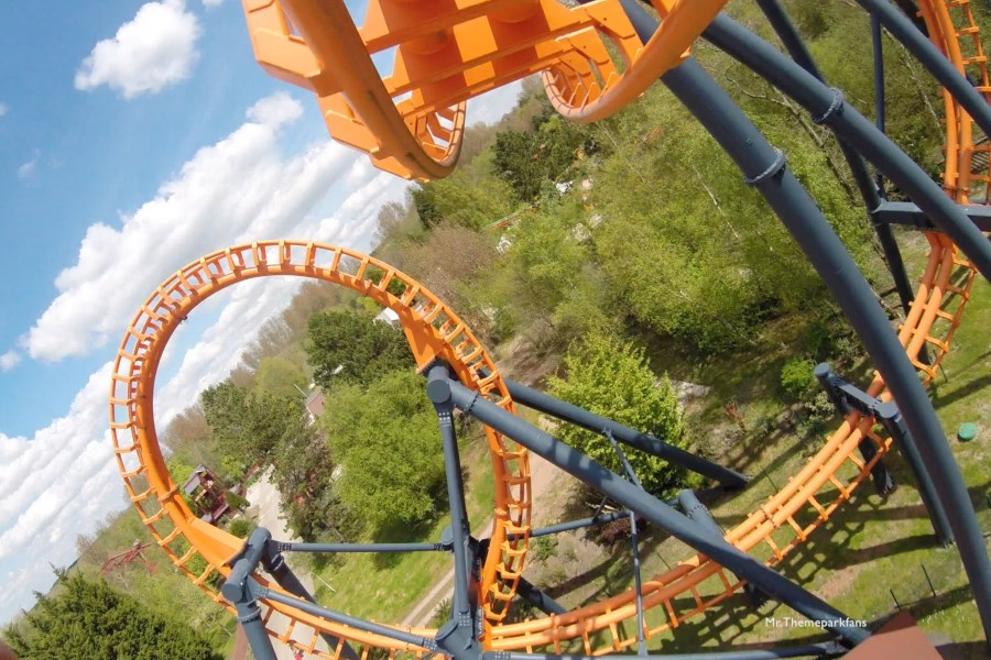 Rollercoaster at Bagatelle theme park